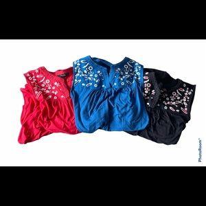 3/$30 Bundle 3 Dalia 100% cotton sleeveless blouse